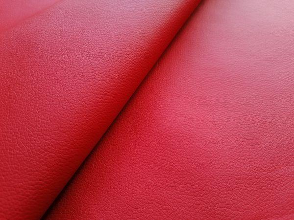 Piros textilbőr KA32