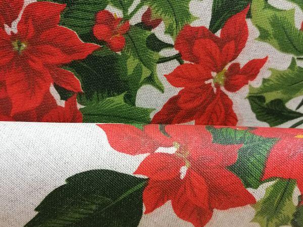 Mikulás virágos asztalterítő KAR01