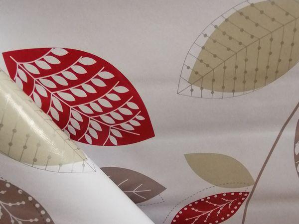 Piros leveles asztalterítő TAV04